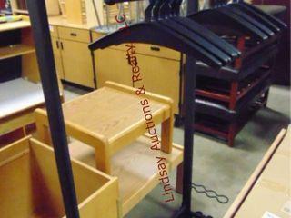 Black coat rack w  hangers   umbrella holder