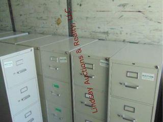 6 metal 4 drawer file cabinets 15  x 25  x 52