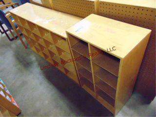 2 wood sorter cabinets 48 x 12 x 30 5