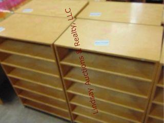 4 wood sorter cabinets on wheels 24x14x37