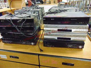 8 various models VHS DVD players