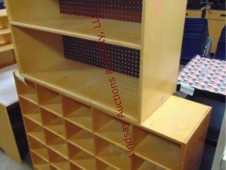2 wood shelves 36 x 15 25 x 26 5   48 x 13 x 37