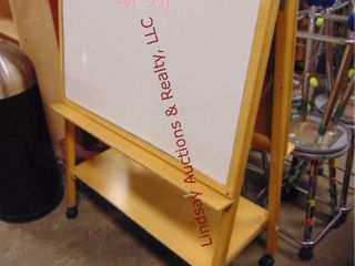 Rolling 2 sided white board 37 x 18x 50
