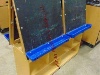 Rolling chalkboard paint easel 2 sided 50 x 22x 52