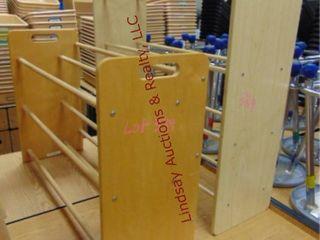 2 wood shoe racks 34 x12 x23   34 x 11 x 31