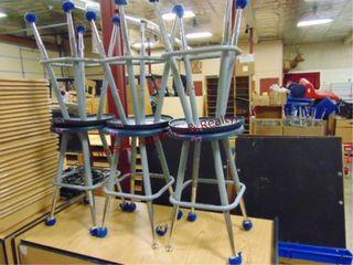 6 metal stools