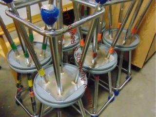 12 metal stools