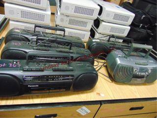 5 AM FM radio   cassette players Panasonic Aiwa