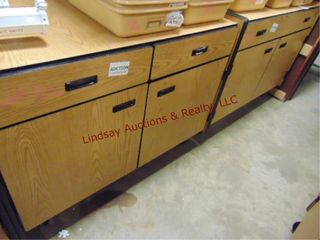 2 door 2 drawer rolling cabinets 48 x 24 x 37