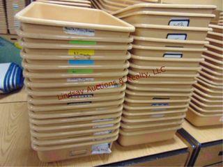 Approx 33 sorter bins  2 stacks