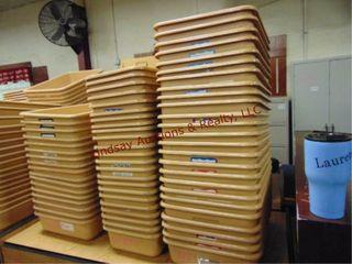 3 stacks approx 66 sorter bins