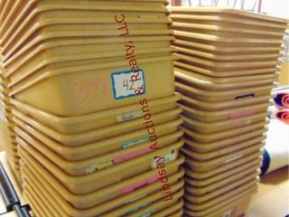 2 stacks of approx 48 sorter bins