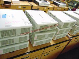 9 Panasonic FW430WXGA projectors