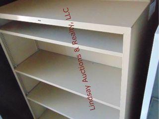 2 metal shelves 34 5  x 12 5  x 37