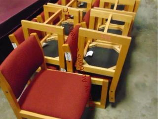 17 red chairs