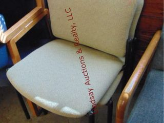 2 cloth side chairs