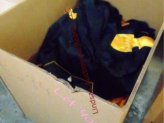 Box of choir robes  black   yellow