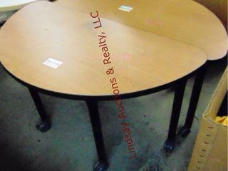 2 pc half table 48 x 24 x 29