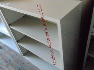 2 metal shelves 34 5  x 12 5  x 41