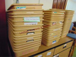 3 stacks approx 52 sorter bins