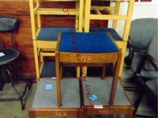 9 padded foot stools various colors