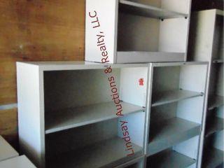 5 metal shelves 34 5  x 12 5  x 29
