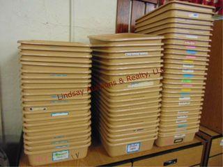 3 stacks approx 68 sorter bins