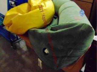 Bean bag chair and inflatable Kayak