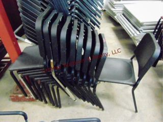 Stack of 10 chairs
