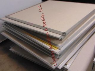 Pallet of bulletin boards 48 x 48 approx 31