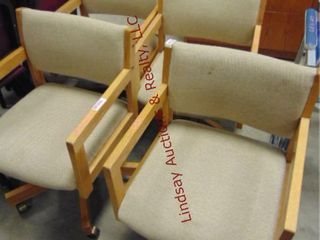 4 conference room chairs on wheels