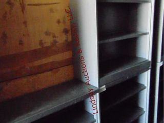 3 metal shelves 36  x 15  x 41