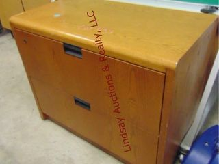 2 drawer wood lateral file cabinet 36 x 20 x 29