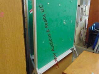 1 rolling chalk board 48 x 31 x 78