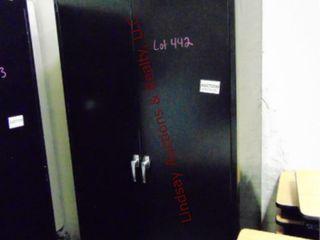 Metal 2 door cabinet w  shelves 36 x 24 x 78