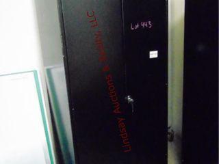 Metal 2 door cabinet w  shelves 36 x 18 x 72