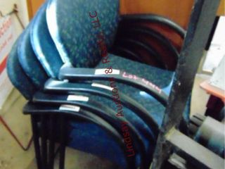 4 stackable cloth chairs
