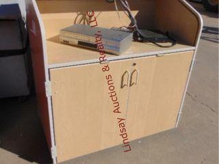 Rolltop 2 door rolling desk 42 x 24x 44 w