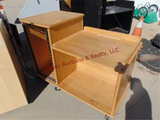 Wood cabinet on wheels 60 x 29 x 42 w  back door