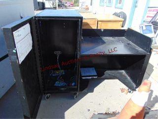 Wood cabinet on wheels 60 x 32 x 49 w