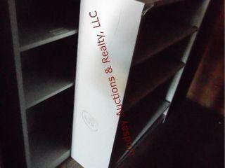 3 metal bookcases 34 5  x 12 5  x 47