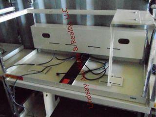 2rolling metal computer workstations 36x24x51