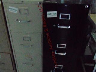2  4 drawer file cabinets 15x28 5x 52   15x25x52