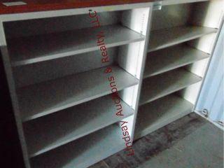 2 metal shelves 35 x 13 x 48