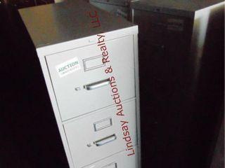 3 metal 4 drawer file cabinets 15  x 28 5  x 52