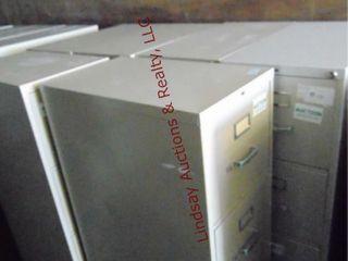 6 metal 4 drawer file cabinets  4  15 x28 5 x52