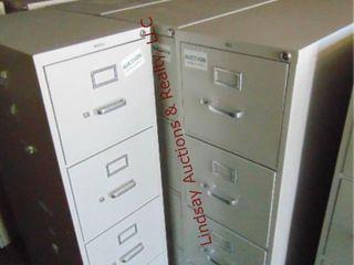 4 metal 4 drawer file cabinets  3  15 x28 5 x 52