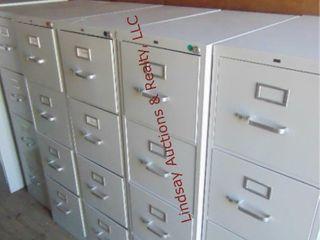 5 metal 4 drawer file cabinets 4  15 x28 5 x52