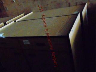 2 Rolling 2 door 2 door cabinets 48x 23x 35 5