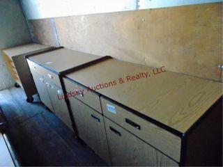 3  2 Rolling 2 door 2 door cabinets 48x 23x 35 5
